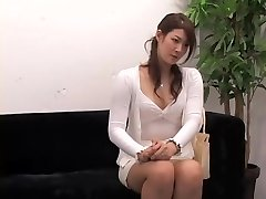 Adorable Jap rides a weenie in hidden cam interview episode