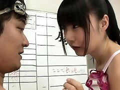 Slim Japanska simmare Tsubomi knullade för flera oral