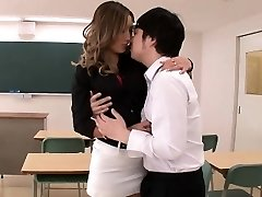 Hot teacher Aika acquires savage by student