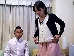 Tomomi Shimazaki Drilled in front of Husband (Uncensored)