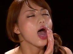 Excellent Japanese model Akiho Yoshizawa in Fabulous POV, Facial JAV scene