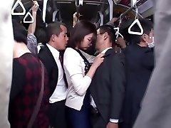 Yuu Shinoda, Yuka Kojima, ASUKA 2, Yuna Shiratori in Disappointed Housewife on the Bus 1 part 4