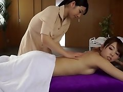 Best Japanese floozy Ai Uehara, Yui Hatano in Fabulous massage, lesbian JAV movie scene