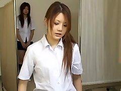 Japonská teen děvky v horké skryté kamery, lékařské video