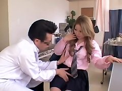 Chunky Japanese gets some act during her Gyno exam
