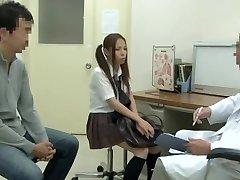 Medical examination with hawt Asian vixen being fucked by hung doctor