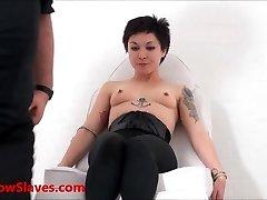 Oriental slave Mei Maras medical fetish and play piercing bdsm