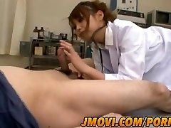 Asian nurse, Arisa Ebihara gives her patient a stunning blow job experience