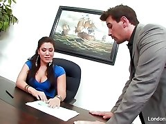 Asian babe London Keyes gets an office fuck