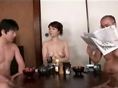 Japanese Mama blackmailed by Step Son Two