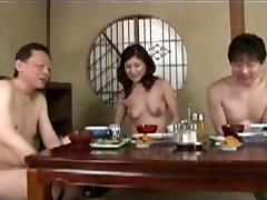 Japanese mature mom and step son