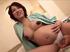 preggy Japan woman still gets fuck part Two