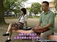 Asian model has hawt public sex part2