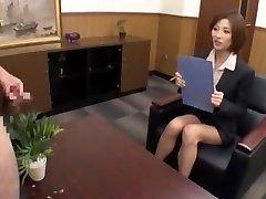 Amazing Japanese whore Akari Asahina in Most Excellent CFNM, Cumshots JAV movie scene
