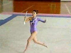 Japanese Stripped Gymnast