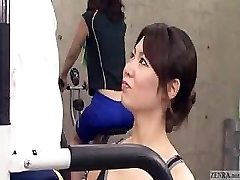 Japanese trainer acquires erection at the gym