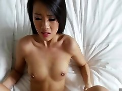 Oriental fucked in the bed