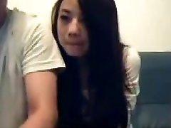 Chinese Pair Mess Around On Livecam