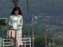 اليابانية أمي فوجئت مع الصبي في السفر