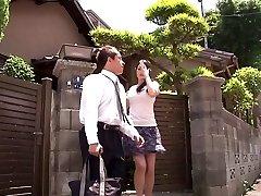 Geweldig Japans meisje Amy Murakami in Gekke tiener tieten, ouwe JAV scene