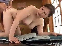 Mature Japanese Babe Uses Her Pussy To Satisfy Her Boy