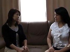 JAV Lesbian Smooching--Yukari/Misako Sofa