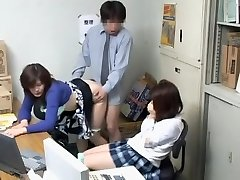 Voyeur video with naughty blowjob and japanese ravaging