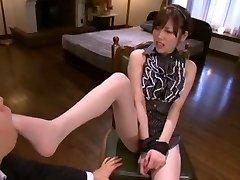 Hottest Japanese girl Rico Yamaguchi in Exotic Sole Fetish, Stockings/Pansuto JAV video