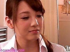 Beautiful busty asian nubile in lingerie