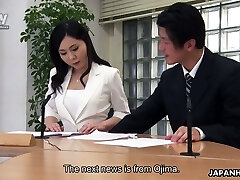Dirty sex in the office is everything obscene Japanese chick Miyuki Ojima needs everyday