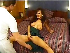 Asia Carrera and her large boobies starring in a gonzo antique vid