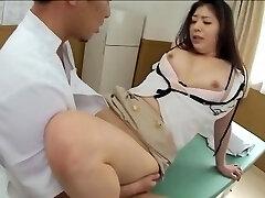 Gorgeous Jap gets pummeled in kinky spy cam massage clip