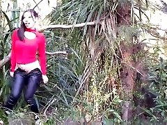 japanese female making loving outdoor