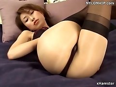 pantyhose facialed nylon stockings legs