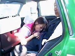 Crazy Japanese girl Hime Orihara in Impressive Blowjob, Car JAV clip