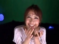 Cute Asian girl Maika get covered in sperm by 2 folks
