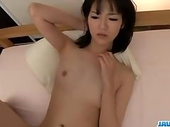 Ruri Okino attempts cock in her gullet and in her pussy