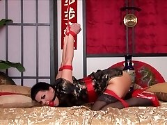 Kimono & Strappado Torture in Bed