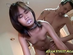 Asian Girlette Does Anal For Enjoy Money And Health