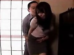 Lustful Japanese housewife gets her taut fuckholes fingered an