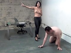 asian boss ball busting gimp