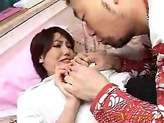 Jaw-dropping babe has a horny guy smooching and caressing her lo