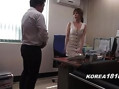 Korean porn SCORCHING Korean Manager Lady