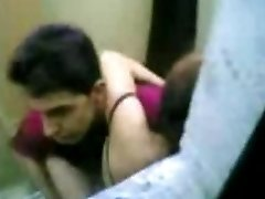 indonesian Maid Tear Up With Pakistani Guy in Hong Kong Public Rest Room