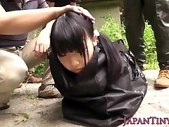 Bizarre japanese group play with spurting teen