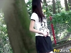 Asian teenie pee public