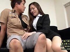 Warm Asian Secretary Takes Advantage 1