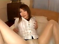 Stocking Asian Legs Tease With Panties