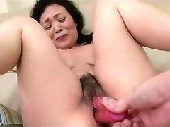 55yr older Granny Kayoe Ozawa Busts and Creamed (Uncensored)