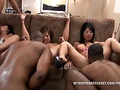 MDDS Tia Ling and Becky Squirts BIG BLACK COCK Interracial Bang-out